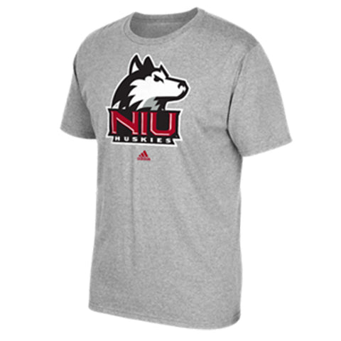 Northern Illinois Huskies Adidas Gray Logo Go-To Tee - Dino's Sports Fan Shop