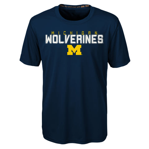 Michigan Wolverines Gen 2 Youth Dri Tek S/S Tee - Dino's Sports Fan Shop
