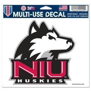 Northern Illinois Huskies Wincraft 5x6 Decal - Dino's Sports Fan Shop