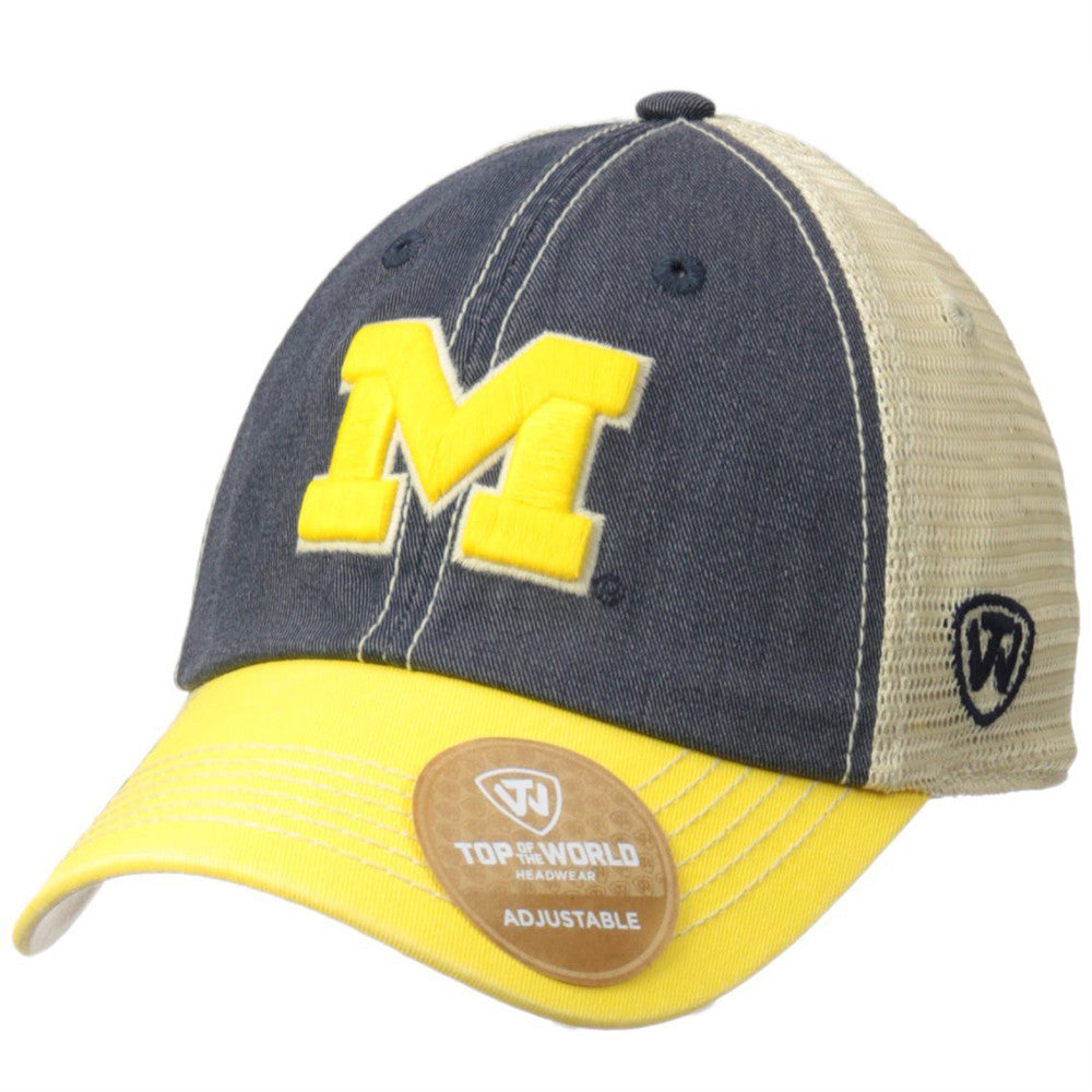 newest collection 4463c 866c4 NCAA Michigan Wolverines Off Road Adjustable Cap, One Size, Navy Stone