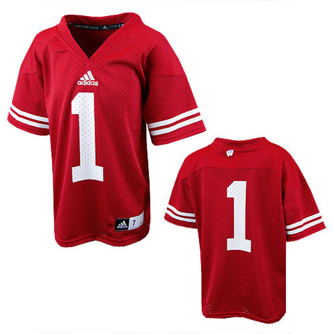 Wisconsin Badgers #1 NCAA Adidas Red Youth Replica Football Jersey - Dino's Sports Fan Shop