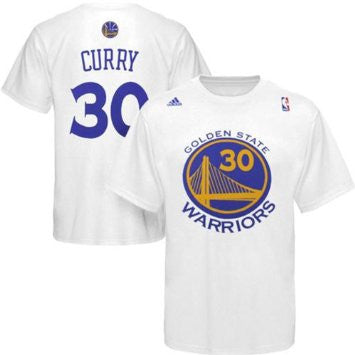 Stephen Curry #30 Golden State Warriors Adidas NBA White Shirt - Dino's Sports Fan Shop