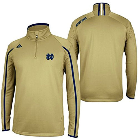 Notre Dame Fighting Irish Adidas 2012 Sideline 1/4 Zip Climalite Gold 2nd Logo Jacket - Dino's Sports Fan Shop