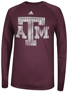 Texas A&M Aggies Adidas Razor Logo Climalite Long Sleeve Shirt - Dino's Sports Fan Shop