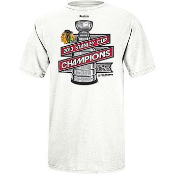 Chicago Blackhawks Reebok 2013 Stanley Cup Champions Official Locker Room T-Shirt - Dino's Sports Fan Shop