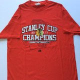 Chicago Blackhawks Majestic 2013 Stanley Cup Champions Red Adult T-Shirt - Dino's Sports Fan Shop