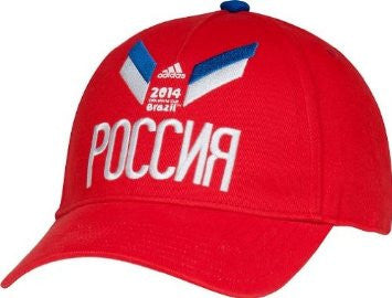 Russia Adidas 2014 World Cup Soccer Futbol Adjustable Hat - Dino's Sports Fan Shop