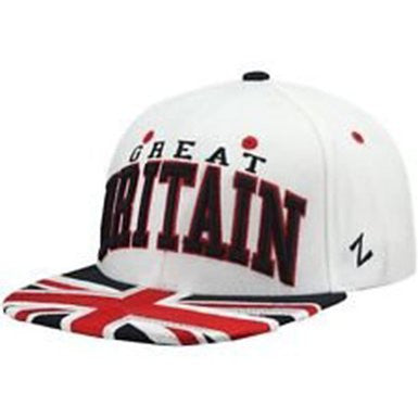 Great Britain Zephyr Superstar White, Navy & Red Snapback Hat - Dino's Sports Fan Shop