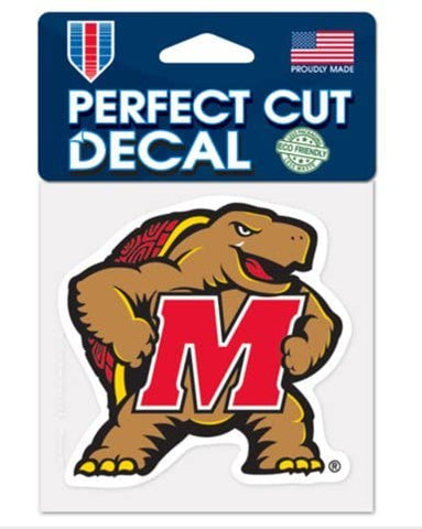 Maryland Terrapins Wincraft Perfect Cut Decal 4x4