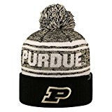 Purdue Boilermakers Top Of The World NCAA Black/Gold Driven Adult Knit Hat