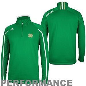 Notre Dame Fighting Irish Adidas 2013 Sideline 1/4 Zip Climalite Pullover - Dino's Sports Fan Shop