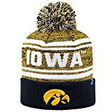 Iowa Hawkeyes Top Of The World NCAA Black/Yellow Driven Adult Knit Hat