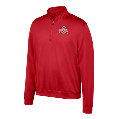 Ohio State Buckeyes Top Of The World Adult Red Quarter Zip