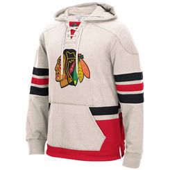 Chicago Blackhawks CCM Men's White Sweatshirt - Dino's Sports Fan Shop