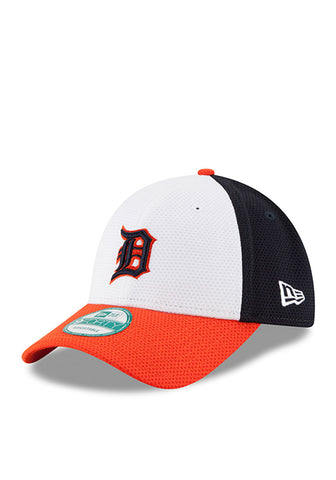 Detroit Tigers New Era 9FORTY Perforated Block Velcro Adjustable Hat