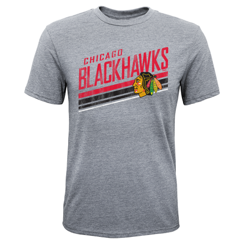 Chicago Blackhawks CCM Gray Script Youth Shirt - Dino's Sports Fan Shop