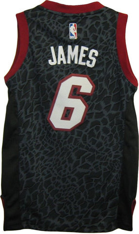 LeBron James #6 Miami Heat Leopard Print NBA Youth Swingman Fashion Jersey - Dino's Sports Fan Shop