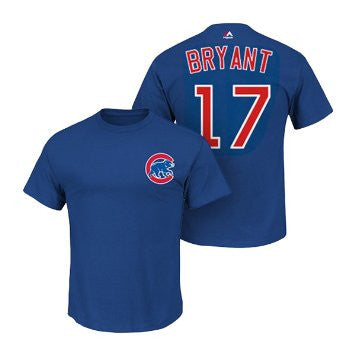 Kris Bryant #17 Chicago Cubs Majestic Youth Shirt - Dino's Sports Fan Shop