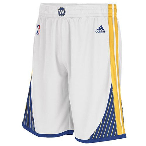 Golden State Warriors Adidas NBA White Swingman Youth Shorts