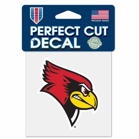 Illinois State Redbirds Wincraft Perfect Cut Decal 4x4