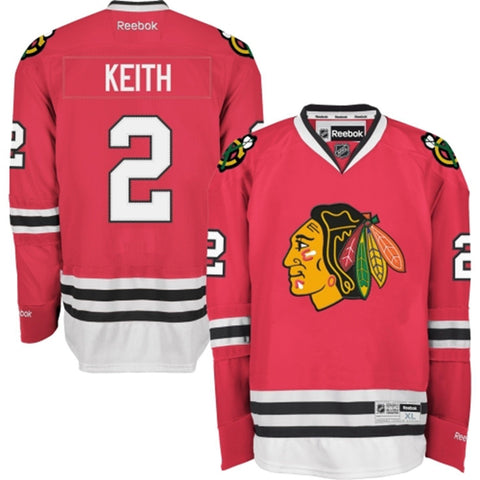 Duncan Keith #2 Chicago Blackhawks Reebok Red Premier Stitched Jersey - Dino's Sports Fan Shop