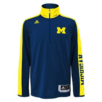 Michigan Wolverines Adidas Youth On-Court Long Sleeve Shooter T-Shirt - Dino's Sports Fan Shop