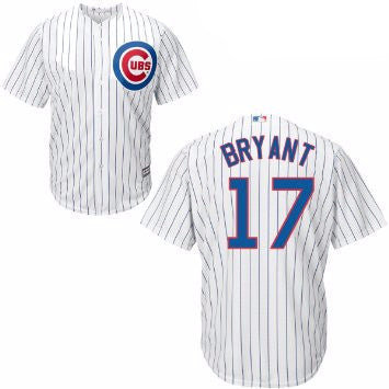 Kris Bryant #17 Chicago Cubs MLB Majestic Youth (4-7) Replica Cool Base Jersey - Dino's Sports Fan Shop