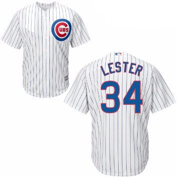 Jon Lester #34 Chicago Cubs MLB Majestic Youth Replica Cool Base Jersey - Dino's Sports Fan Shop