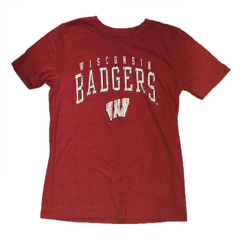 "Wisconsin Badgers Gen2 Youth Red Tri Blend ""Wheelhouse"" Shirt - Dino's Sports Fan Shop"
