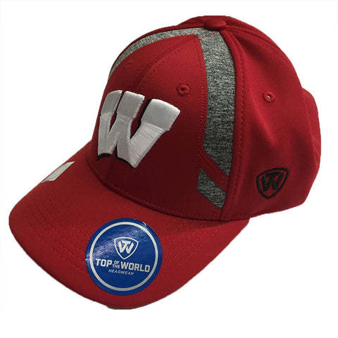 Wisconsin Badgers Top of the World Transition Adjustable Hat - Dino's Sports Fan Shop