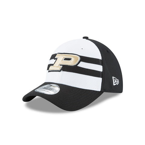 Purdue Boilermakers New Era Adult 39Thirty NE15 White/Black Hat - Dino's Sports Fan Shop - 1