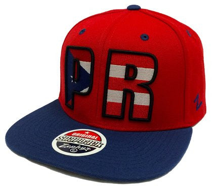 Puerto Rico Zephyr Red Backdrop Snapback Hat - Dino's Sports Fan Shop