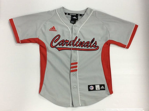 St. Louis Cardinals MLB Adidas Youth Gray Applique Blank Jersey - Dino's Sports Fan Shop