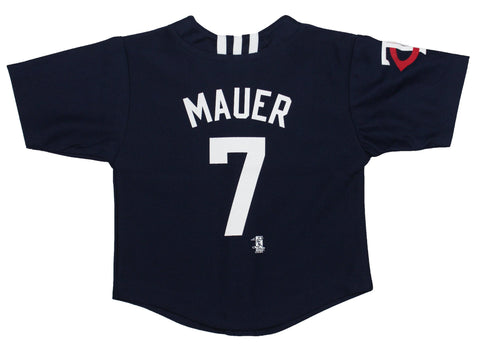 Joe Mauer #7 Minnesota Twins MLB Adidas Youth Navy Applique Baseball Jersey - Dino's Sports Fan Shop