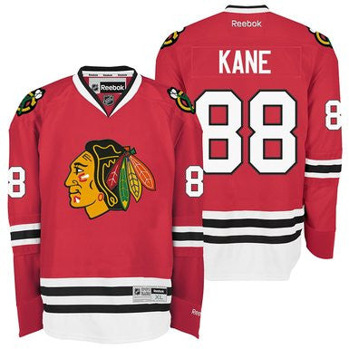 Patrick Kane #88 Chicago Blackhawks Reebok NHL Youth Premier Jersey Red - Dino's Sports Fan Shop