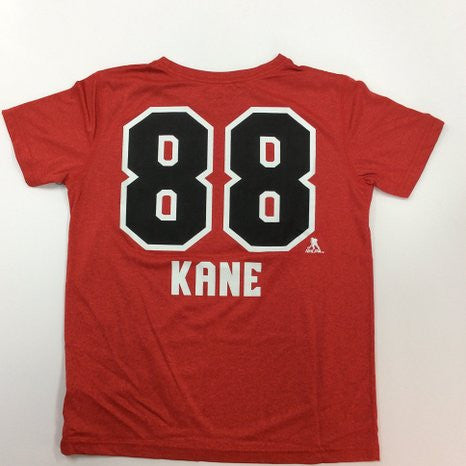 Patrick Kane #88 Chicago Blackhawks Youth Reebok Center Ice PlayDry Shirt - Dino's Sports Fan Shop