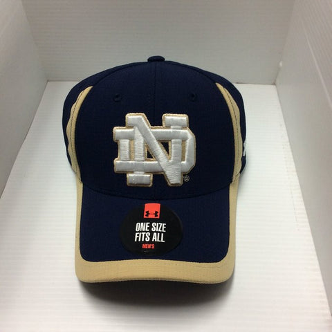 Notre Dame Fighting Irish Under Armour One Size Navy Hat - Dino's Sports Fan Shop