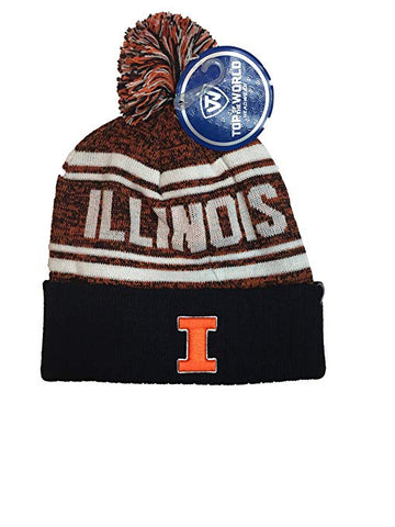 Illinois Fighting Illini Top of the World Pom Knit Beanie