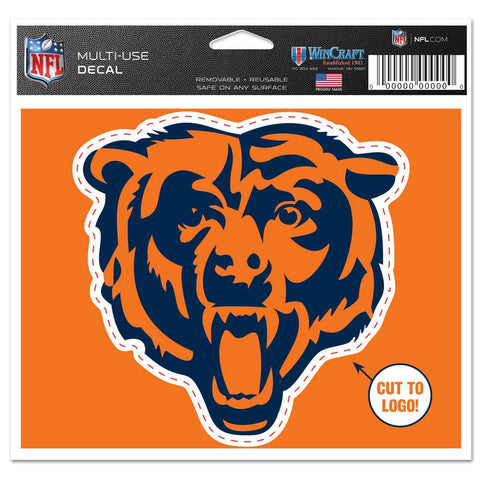 Chicago Bears Wincraft Orange Bear 5x6 Decal - Dino's Sports Fan Shop