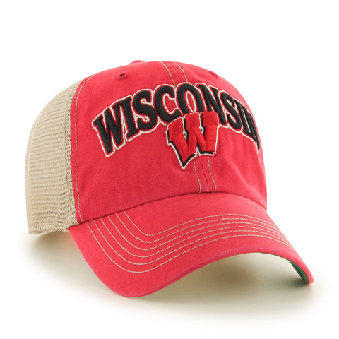 Wisconsin Badgers '47 Brand Clean Up Adjustable Adult Hat - Dino's Sports Fan Shop - 1