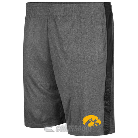 Iowa Hawkeyes Colosseum Charcoal Fire Break Adult Shorts - Dino's Sports Fan Shop