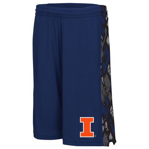 Illinois Fighting Illini Colosseum Youth Shorts - Dino's Sports Fan Shop