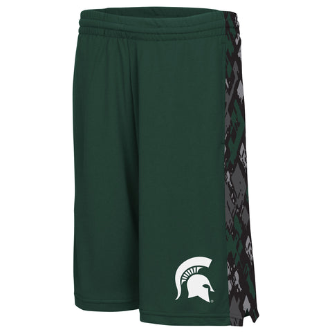 Michigan State Spartans Colosseum Youth Mustang II Shorts - Dino's Sports Fan Shop