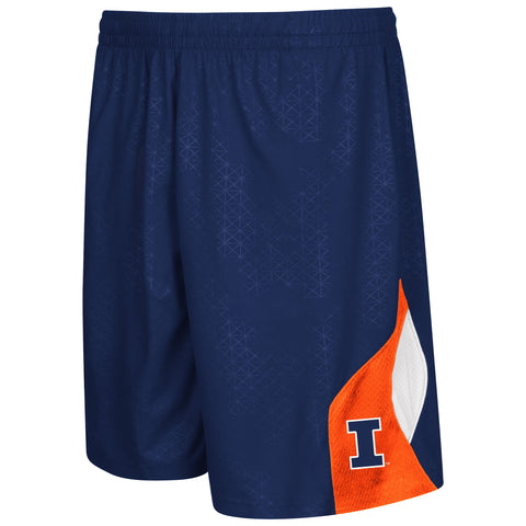 Illinois Fighting Illini Colosseum Gridlock Youth Shorts - Dino's Sports Fan Shop