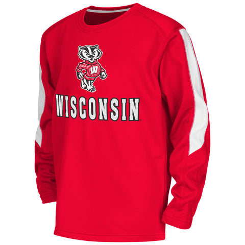 Wisconsin Badgers Colosseum Youth Chopblock Pullover - Dino's Sports Fan Shop