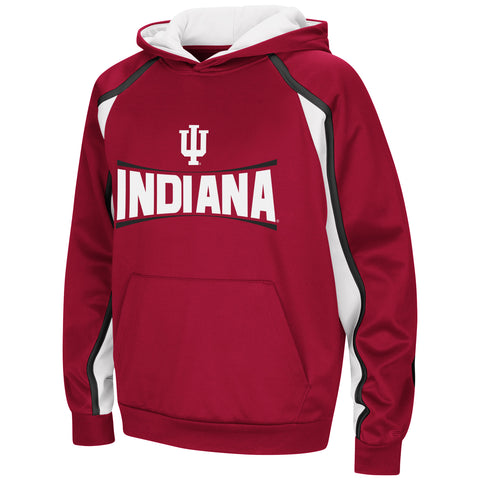 Indiana Hoosiers Colosseum NCAA Youth Hook and Lateral Pullover Hoodie