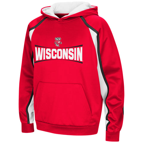 Wisconsin Badgers NCAA Youth Hook and Lateral Pullover Hoodie Colosseum