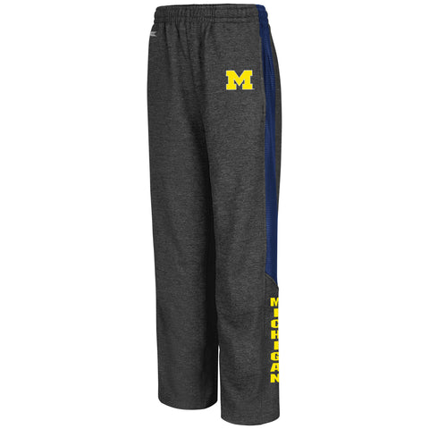 Michigan Wolverines Colosseum Youth Charcoal Surge Warm Up Pants - Dino's Sports Fan Shop