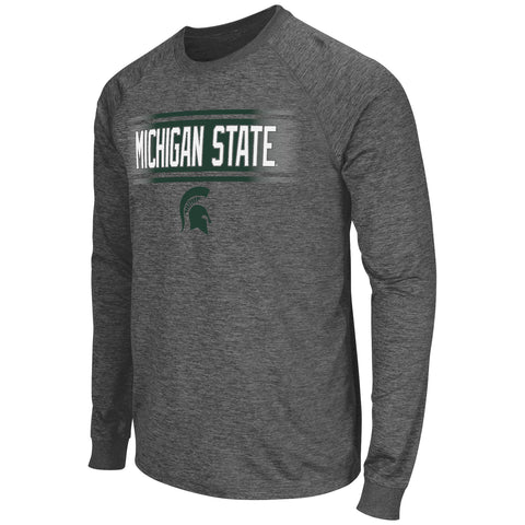 Michigan State Spartans Colosseum Men's Slate II Performance L/S Shirt - Dino's Sports Fan Shop