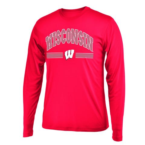 Wisconsin Badgers Colosseum Drift L/S Shirt - Dino's Sports Fan Shop